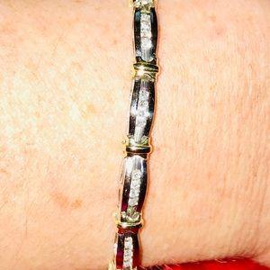 Jewelry - .75 CTW 💯 GENUINE DIAMOND BRACELET 10 KT GOLD